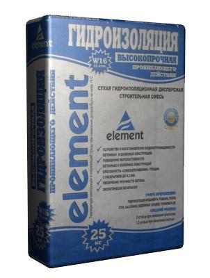 Гидроизоляция ELEMENT Гидроизол проникающего действия 25 кг
