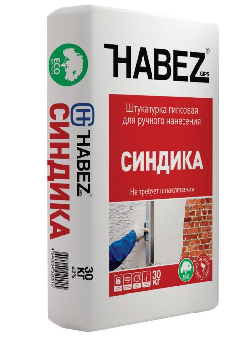 Штукатурка гипсовая Habez Синдика для ручного нанесения 30 кг